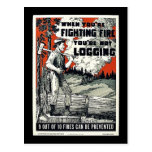 Cuando usted está luchando los fuegos usted no est tarjeta postal