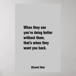 Cuando ven usted está haciendo mejor… póster