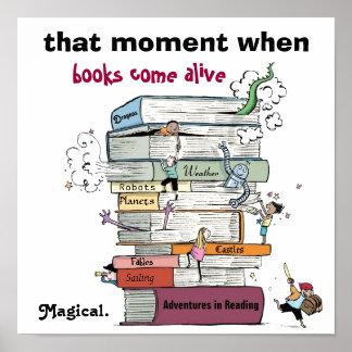 Cuando vienen los libros poster vivo de la instruc