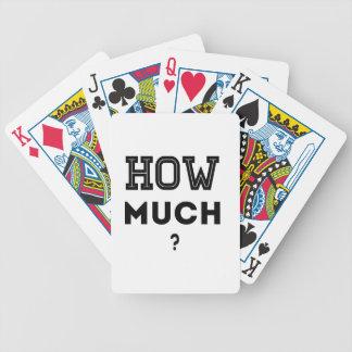 ¿Cuánto? Cartas De Juego