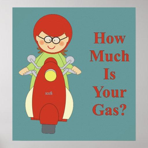 Cuánto es su poster del gas