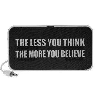 Cuanto menos que usted piensa, más usted cree PC altavoces