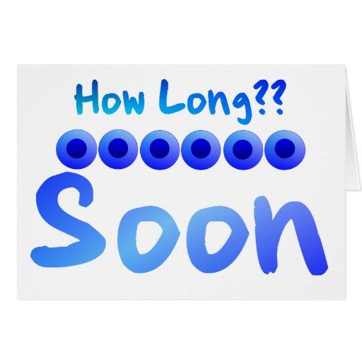 Cuánto tiempo tarjeta de felicitación