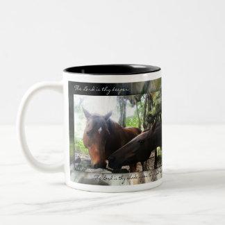 ¿Cuántos caballos? Taza De Café De Dos Colores