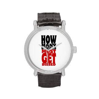 Cuántos Emcees deben conseguir Dissed Relojes