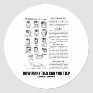 ¿Cuántos lazos puede usted atar? (Actitud del Pegatina Redonda
