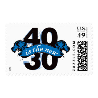 Cuarenta es los nuevos treinta - azul franqueo