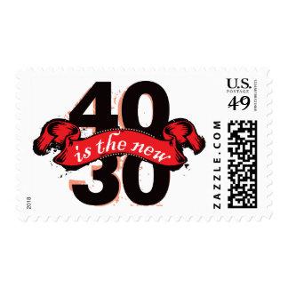Cuarenta es los nuevos treinta - rojo sellos