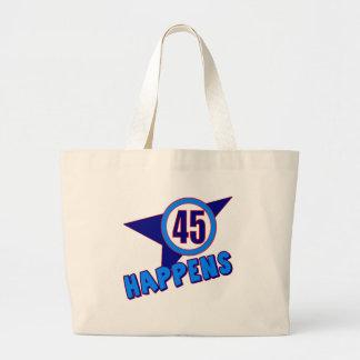 Cuarenta y cinco sucede los 45.os regalos de cumpl bolsa lienzo