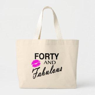 Cuarenta y fabuloso bolsa tela grande