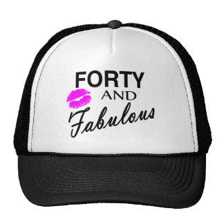 Cuarenta y fabuloso gorras