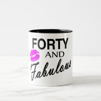 Cuarenta y fabuloso taza