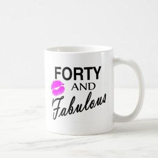 Cuarenta y fabuloso tazas