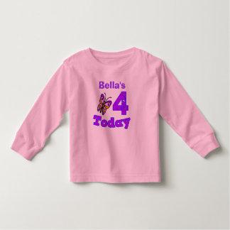 Cuarta camisa del chica del cumpleaños de la