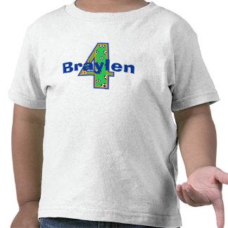 Cuarta camisa del muchacho del cumpleaños del fútb