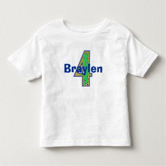 Cuarta camisa del muchacho del cumpleaños del