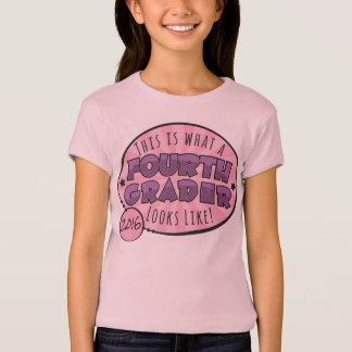 Cuarta camisa el | del grado púrpura y rosado