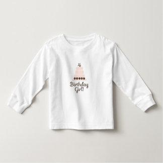 Cuarta camiseta del chica del cumpleaños playera