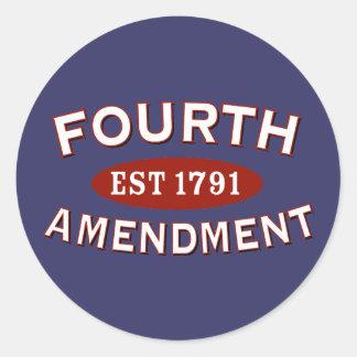 Cuarta enmienda Est 1791 Etiquetas Redondas