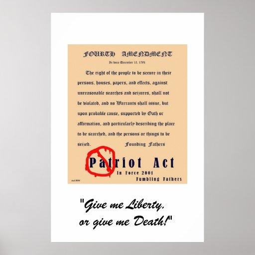 Cuarta enmienda posters
