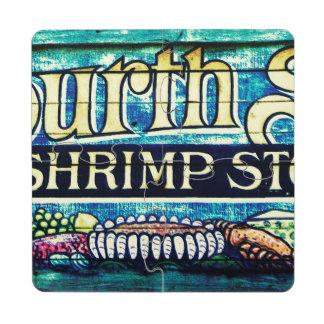 Cuarta tienda del camarón de la calle posavasos de puzzle