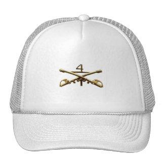 Cuartas insignias de la caballería gorra