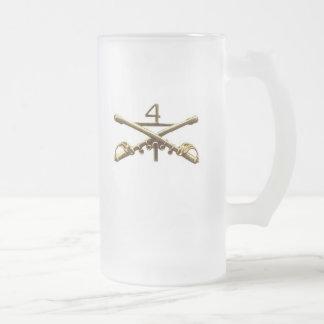 Cuartas insignias de la caballería taza de café