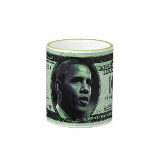 Cuartel Obama 100 dólares de taza de Bill