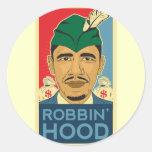 Cuartel Obama del pegatina de Robin Hood de la