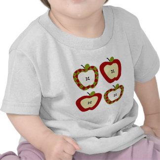 Cuarteto de Apple de la tela escocesa Camisetas