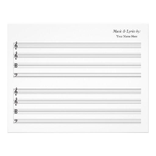Cuarteto de cuerda en blanco del bastón de la part membrete personalizado