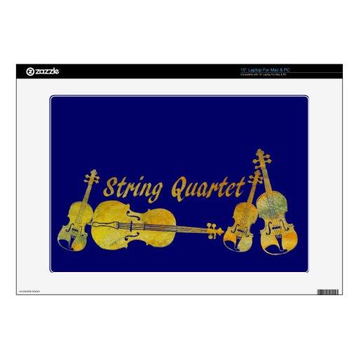 Cuarteto de cuerda en oro skins para 38,1cm portátiles
