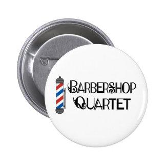 Cuarteto de la barbería de poste del peluquero pin