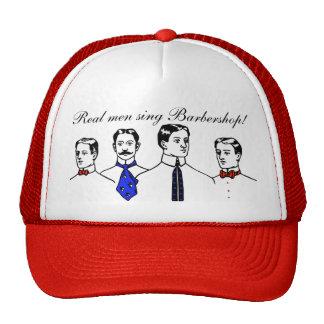 Cuarteto de la barbería gorras de camionero