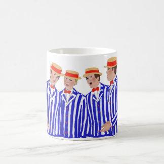 Cuarteto de la barbería tazas de café