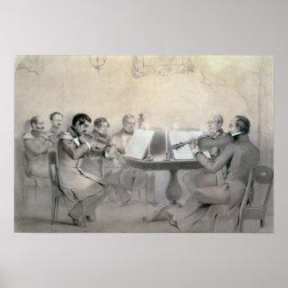 Cuarteto de la cuenta A.F. Lvov, 1840 del composit Póster