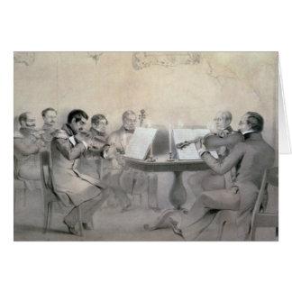 Cuarteto de la cuenta A.F. Lvov, 1840 del composit Tarjeta De Felicitación