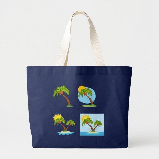 Cuarteto de la palmera bolsas lienzo