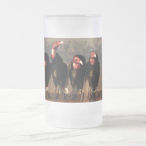 Cuarteto del buitre taza de cristal