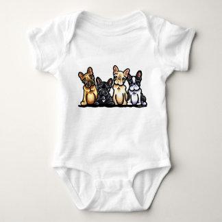 Cuarteto del dogo francés body para bebé