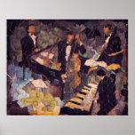 Cuarteto del jazz póster