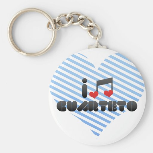 Cuarteto fan basic round button keychain