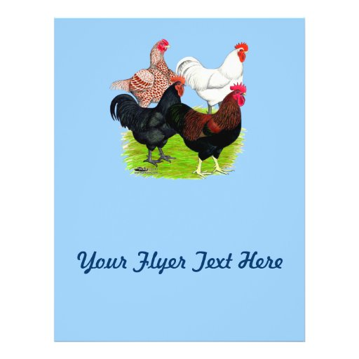 Cuarteto pesado del gallo de la raza tarjetas publicitarias