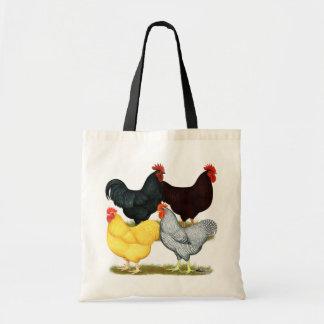 Cuarteto pesado del pollo del gallo bolsas de mano