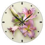 Cuarteto rosado del lirio relojes