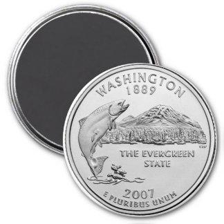 Cuarto 2007 del estado de Washington Imanes De Nevera
