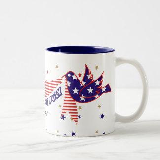 Cuarto 4to de las tazas de café de julio