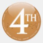 Cuarto 4to) premio del lugar ( etiqueta redonda