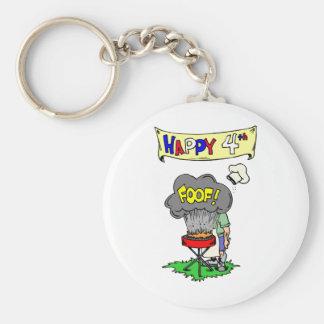 Cuarto Cookout feliz Llavero Redondo Tipo Pin