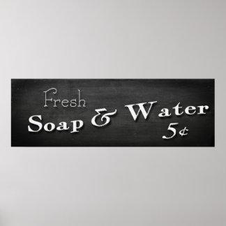 """Cuarto de baño 36"""" del jabón y del agua"""" poster"""
